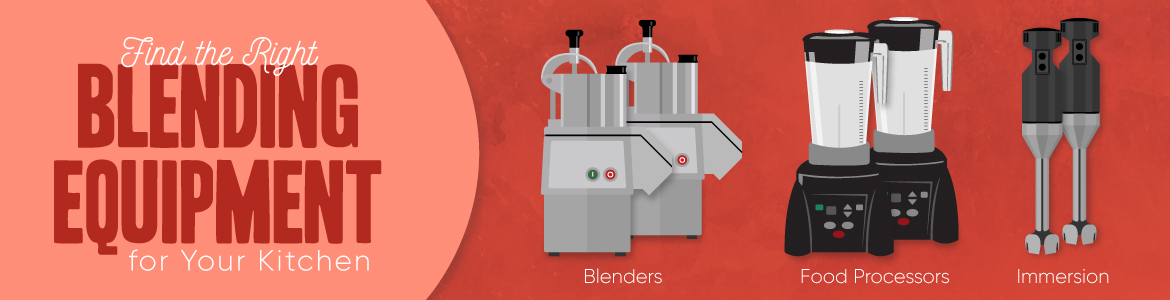 Compare Blenders, Food Processors, and Immersion Blenders