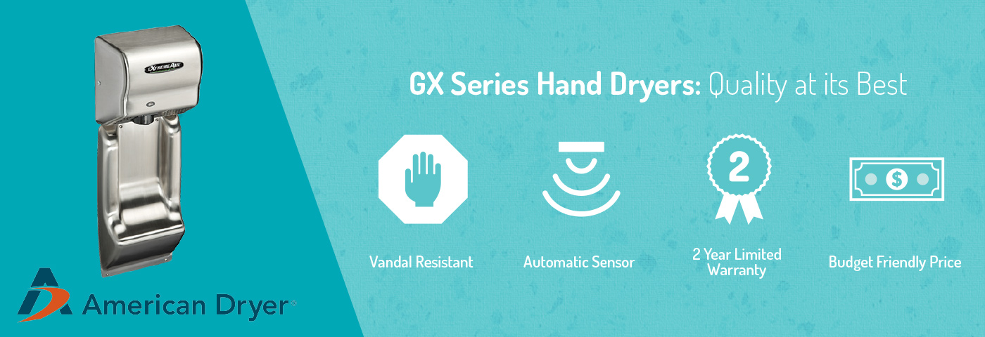 GX Series Hand Dryers: Quality at its Best