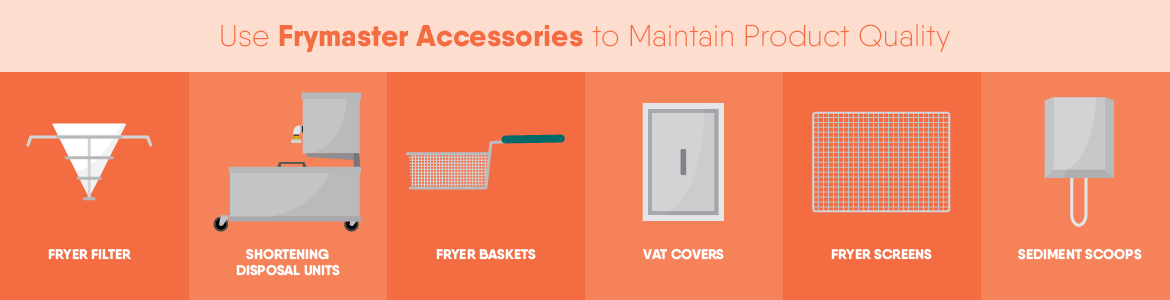 Use Frymaster Accessories to Maintain Product Quality