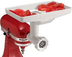 KitchenAid attachment meat grinder with tray