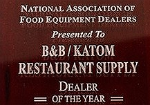 "KaTom Restaurant Supply named national ""Dealer of the Year"""